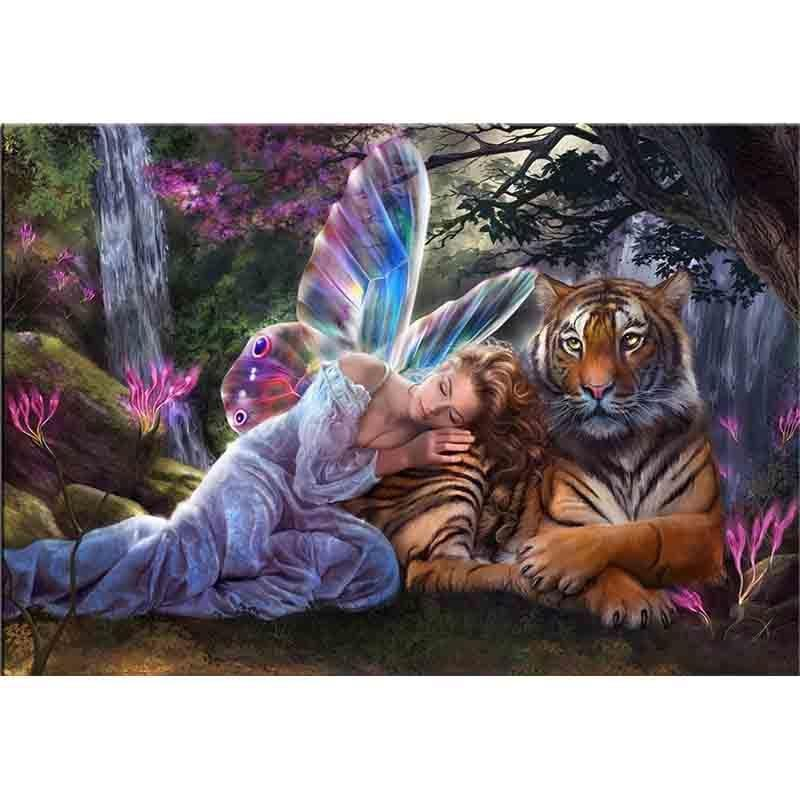 Fairy with Tiger Dia...