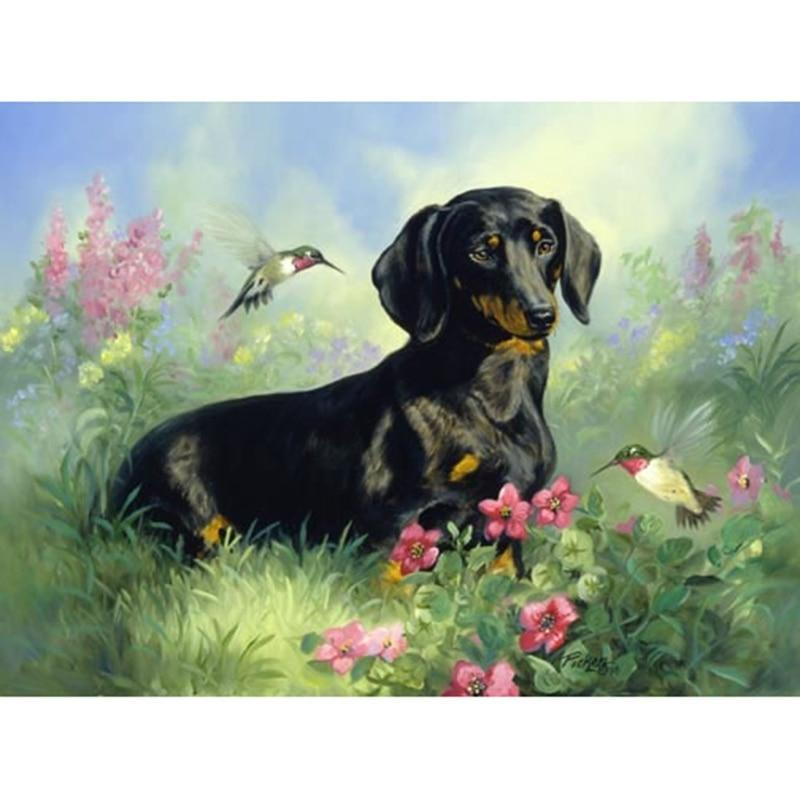 Dogs And Flowers Dia...