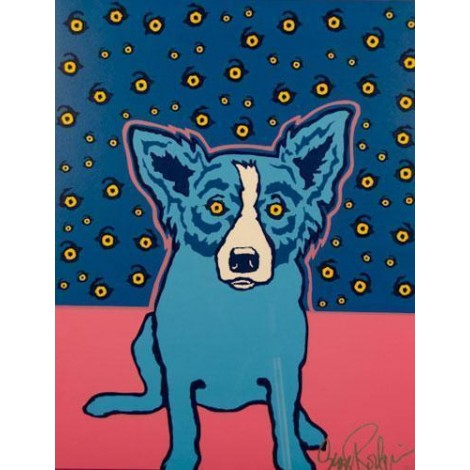 Blue Dog Diamond Painting Kit